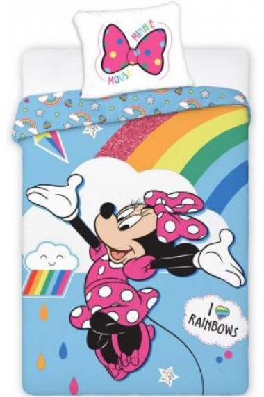 Lenjerie de pat Disney Minnie 140x200 cm - 70x90 cm