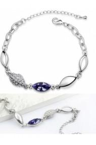 Bratara WATER DROP violet inchis cu cristale