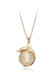 Colier cu cristale Gold Real Pearl