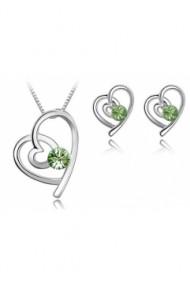Set FANTASTIC HEART 2in1 cu cristale verzi