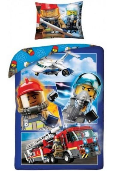 Lenjerie de pat Lego City 140x200 cm - 70x90 cm