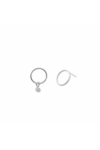Cercei Lisa & Co Lisa&Co asymmetric circle argint