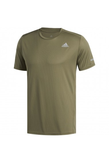 Tricou barbati adidas Performance Run Tee Green DU3875