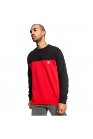 Bluza barbati Dc Shoes Rebel Crew Block 3 Red/black EDYFT03456-XKKR