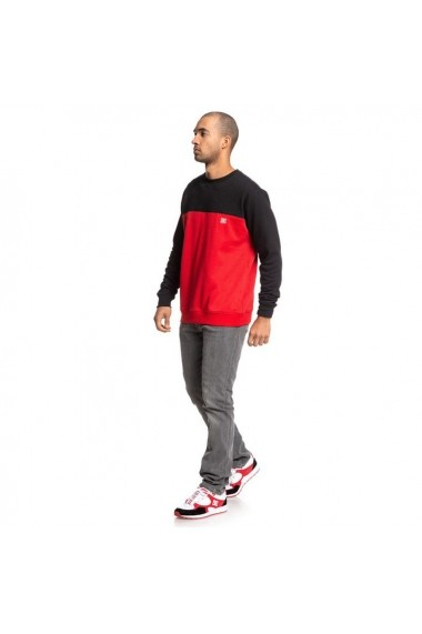 Bluza barbati Dc Shoes Rebel Crew Block 3 Red/black EDYFT03456-XKKR