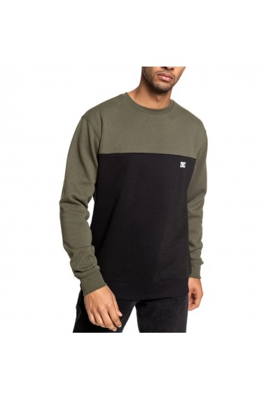 Bluza barbati Dc Shoes Rebel Crew Block 3 Green/black EDYFT03456-XCCK