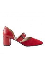Pantofi pumps cu bareta Donna mia DM2005 rosu