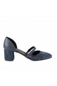 Pantofi pumps cu bareta Donna Mia DM2005 albastru