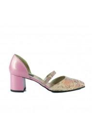 Pantofi pumps cu bareta Donna Mia DM2005 Roz