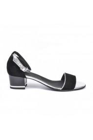 Sandale cu toc mediu Donna Mia DM1822 negru