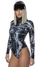 Costum de baie Scuba Marble Negru Motivate Store