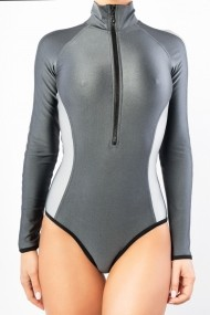 Surf-up Long Sleeve Bikini Brazilian Gri Motivate Store
