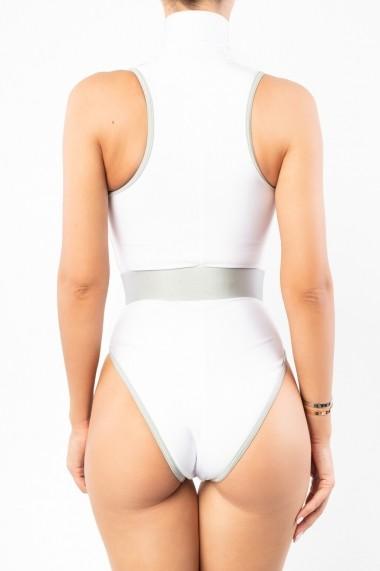 Costum de baie Surf-up White Sidef Sleeveless Alb Motivate Store