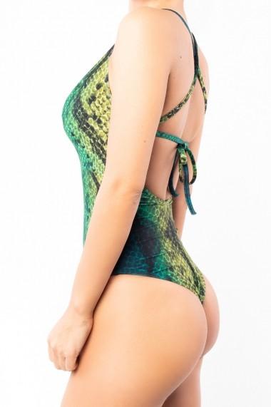 Costum de baie intreg JADE Snake Verde Motivate Store