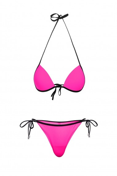 Costum baie 2 piese Mistery Roz Neon Motivate Store