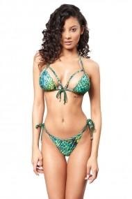 Costum baie 2 piese Mistery Snake Verde Motivate Store