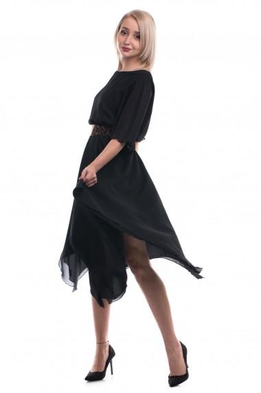 Rochie midi Tinka in colturi neagra