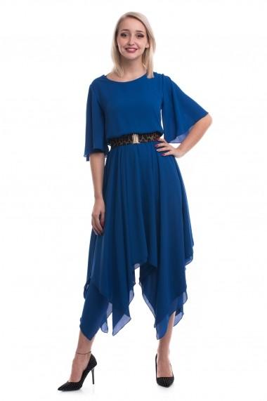 Rochie midi Tinka in colturi albastra