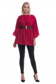 Bluza Tinka din bumbac rosie