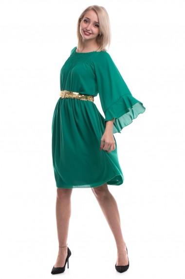 Rochie de zi Tinka din voal verde