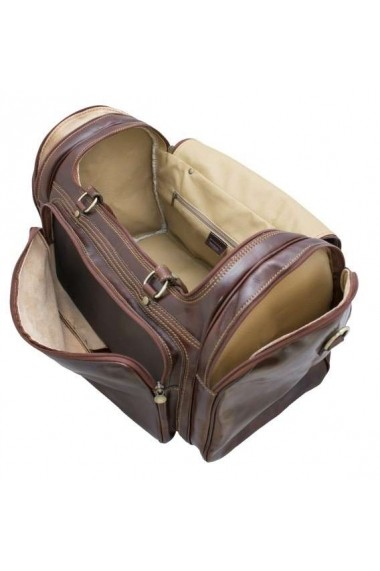 Geanta voiaj din piele naturala bagaj de mana avion DGV103