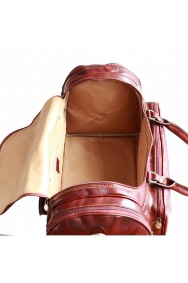Geanta voiaj din piele naturala bagaj de mana avion DGV103A