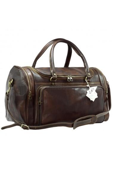 Geanta voiaj din piele naturala bagaj de mana avion DGV103B
