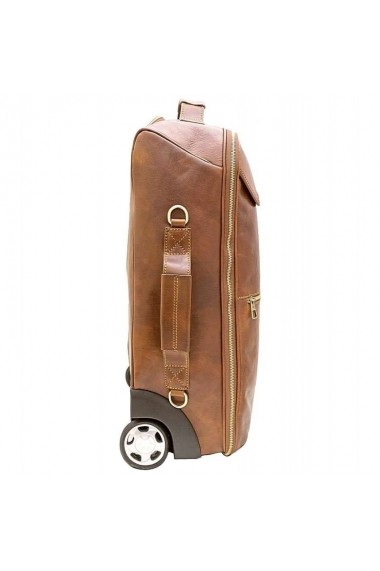 Troler din piele naturala bagaj de mana avion DGV119A