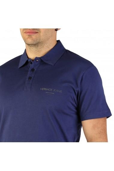Tricou Versace Jeans B3GTB7P7_36610_221 Albastru