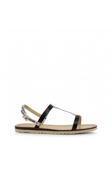 Sandale plate Love Moschino JA16421G07JV 110A Negru