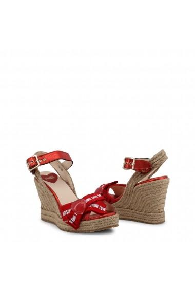 Sandale cu platforma Love Moschino JA1631AI07JH 250A Rosu
