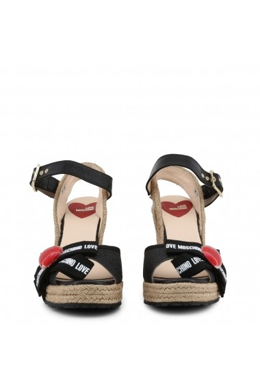 Sandale cu platforma Love Moschino JA1631AI07JH 200A Negru