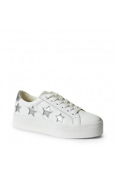 Pantofi sport Guess FLFHS3LEA12_WHITE-SILVER Argintiu
