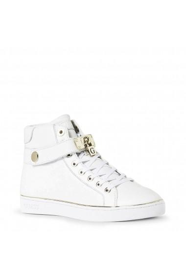 Pantofi sport Guess FLBOG4LEA12_WHITE Alb