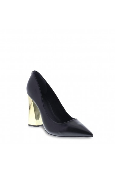Pantofi cu toc Guess FLODE4LEA08_BLACK Negru