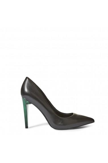 Pantofi cu toc Guess FLOBA4LEA08_BLACK Negru