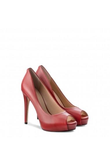 Pantofi cu toc Guess FLH124LEA07_DARKRED Rosu