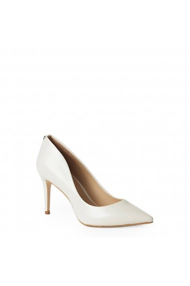 Pantofi cu toc Guess FLBE74LEA08_IVORY Alb