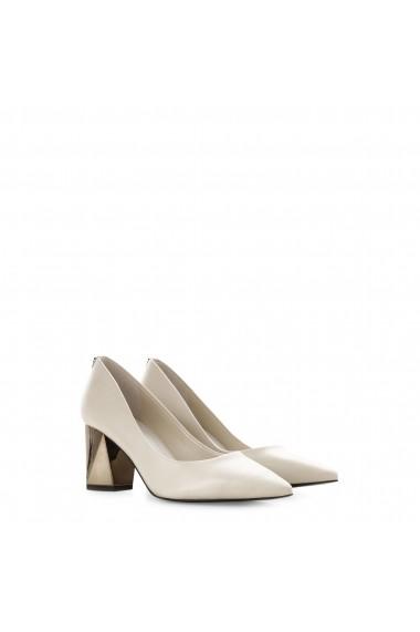 Pantofi cu toc Guess FLBAI4LEA08_IVORY Alb