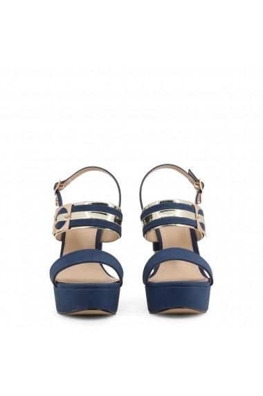 Sandale cu toc Laura Biagiotti 6122_NABUK_NAVY