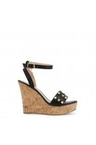 Sandale cu toc Laura Biagiotti 6051 CALF BLACK