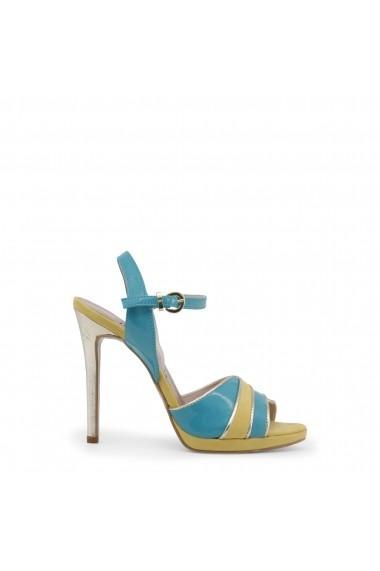 Sandale cu toc Paris Hilton 8605 VERDE-GIALLO-PLATINO Multicolor