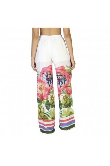 Pantaloni largi Rinascimento 15811 002 B434BIANCO multicolor Floral
