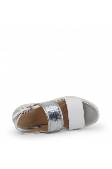 Sandale plate GEOX WIMBLEY D92DPB 043AY C0007-WHITE Alb