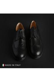 Pantofi Madrid 606_CRUST_NERO