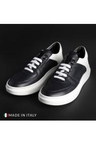 Pantofi sport R21 DENNY_01_PELLE_BLU-BIANCO