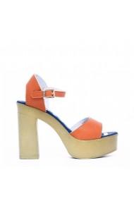 Sandale cu toc U.S. Polo ASSN. FAYE4026S8 Y1 ORA Multicolor