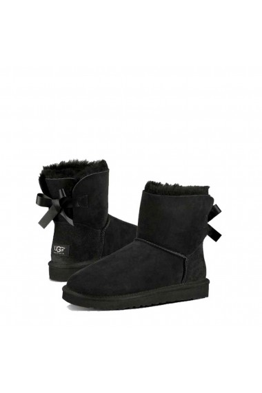 Cizme Ugg MINI_B_BOW_II_1016501_BLACK Negru