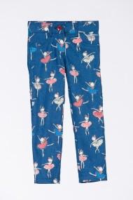 Pantaloni Be You cu print 3255 Albastru