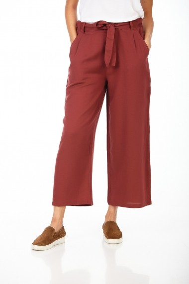 Pantaloni largi BE YOU 3322 Bordo